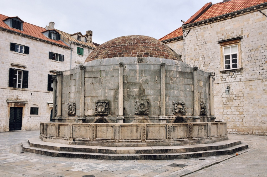 Onofrio's Fountain is one of the ancient fountains of Dubrovnik, Croatia